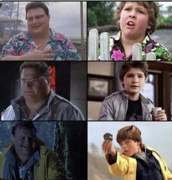 Dennis Nedrey was secretly cosplaying Goonies characters