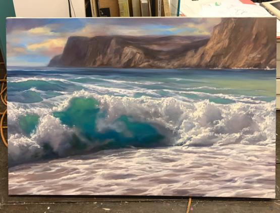 My latest seascape, 6.5 hour oil painting