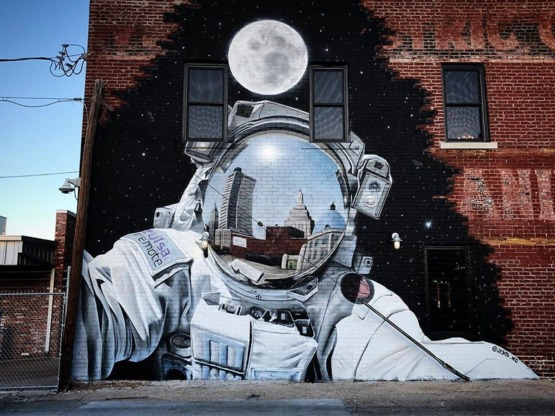 Out of this world street art! by JEKS in Tulsa OK