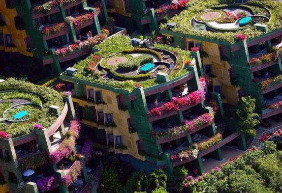 Colorful apartments in Thailand