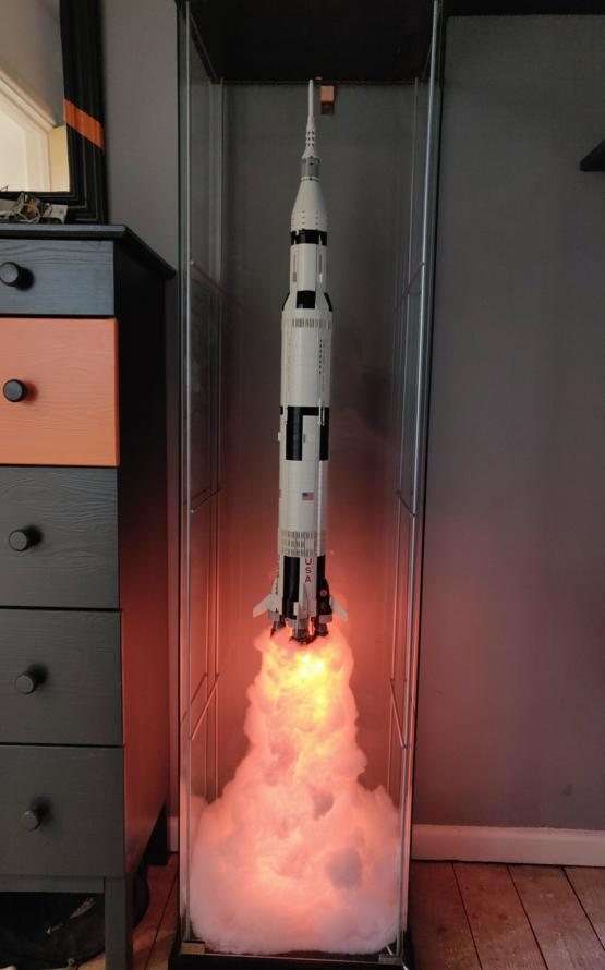 My attempt at a LEGO Saturn V display