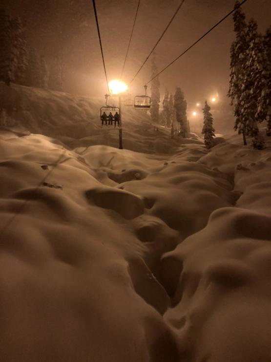 Fresh powder at Alpental in Washington