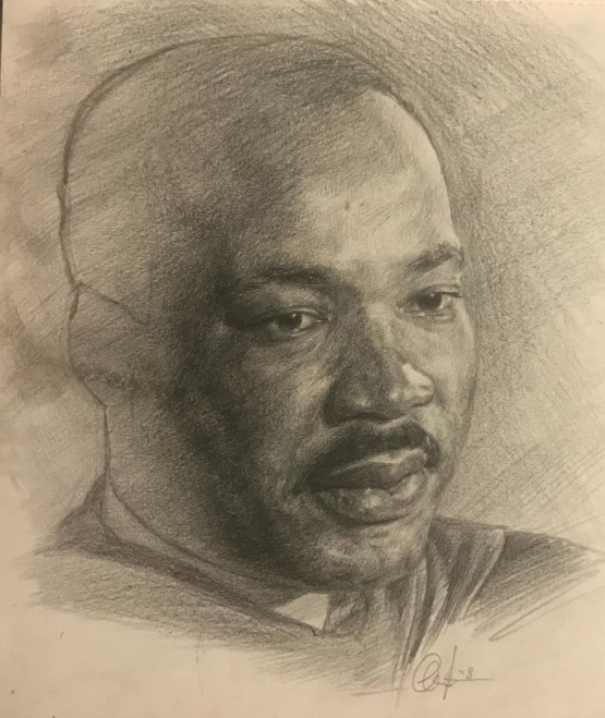 Colored pencil drawing of MLK Jr. I did 3 years ago