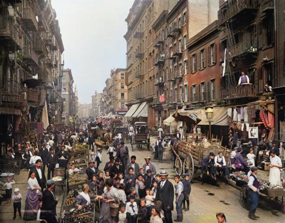 Photo of New York City taken in 1900. Colorized using a deep learning model.
