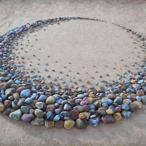 The way someone arranged these stones
