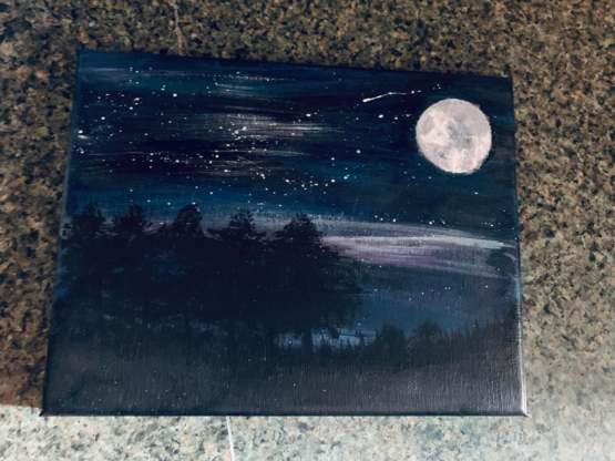 I'm teaching myself to paint. I'm really proud of how my first one turned out!
