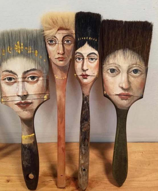 Paintbrush Portraits by Alexandra Dillon