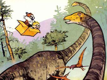 Yes Calvin and Hobbes was clever and funny but take a moment to realize how stunning the art is.
