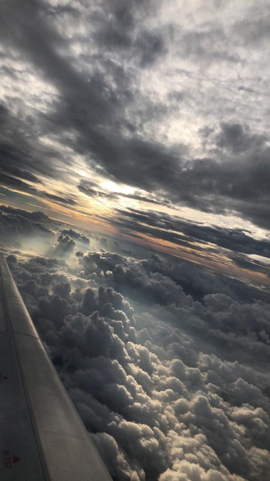 Picture of the clouds from a plane