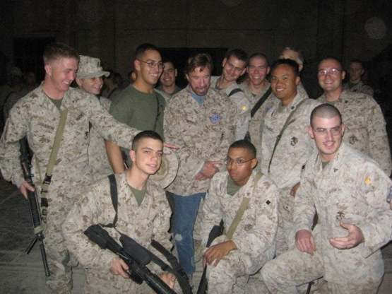 We met Chuck Norris in Iraq.. My friend made a joke & Chuck asked who said it & I pointed him out