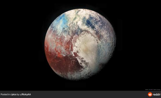 Since we're sharing pictures of planets here Pluto in 4K