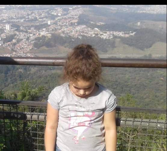 My niece finding out that she climbed a hill for 3 hours and there was nothing there but a good view