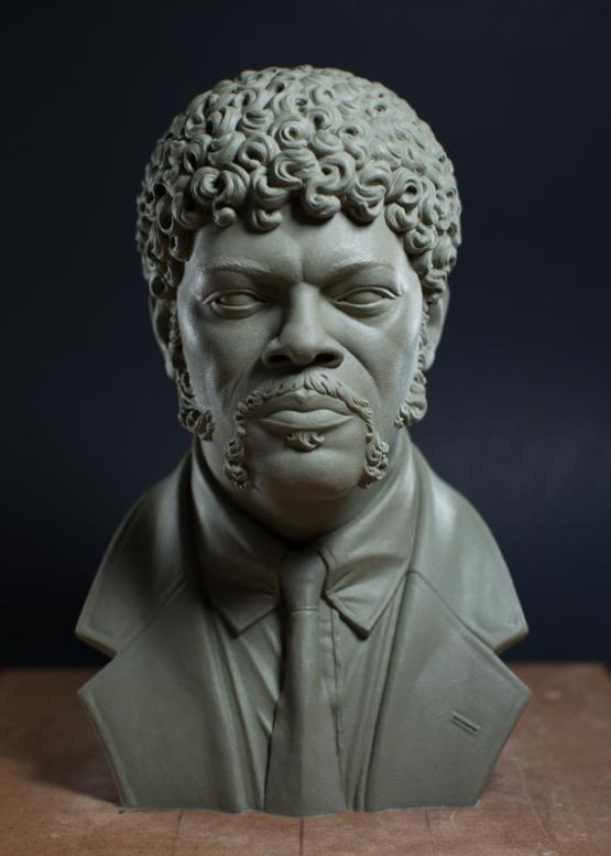 I went through a spiritual awakening last year and to mark the change, I sculpted Jules Winnfield