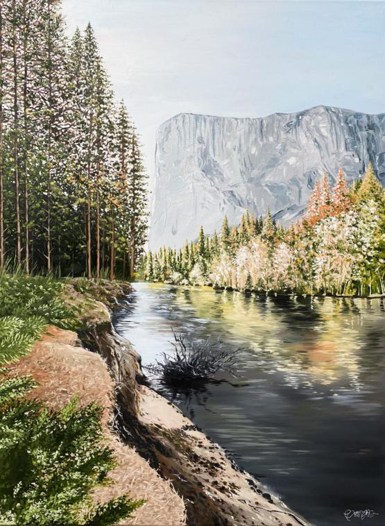 My painting of El Capitan! Oil on canvas, 30x40
