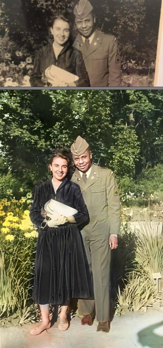 I posted a pic of my Omi and grandfather in 1950 Germany. Thanks to some Redditors, this happened.