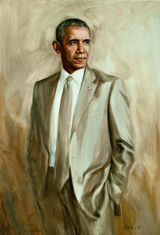 Portrait In A Tan Suit