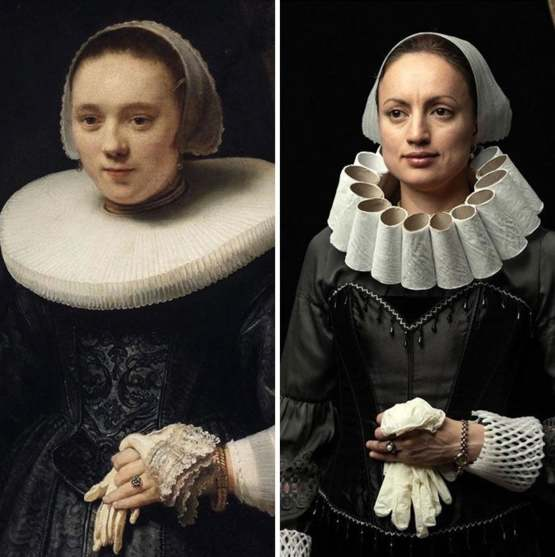 "Rembrandt ""Portrait Of A Woman With Gloves"""