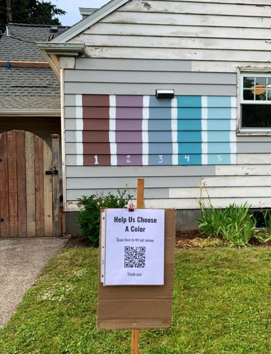 These folks in Portland, OR, are 'crowdsourcing' their new house paint color