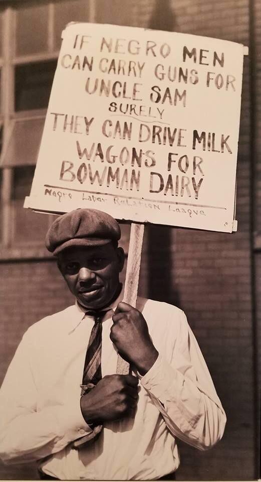 American protester, Chicago,1941