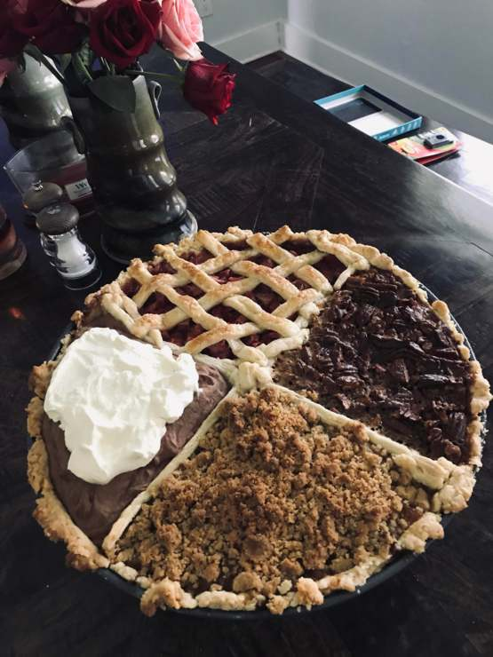 My boyfriend asked for pie for his birthday, but he didn't say what kind...