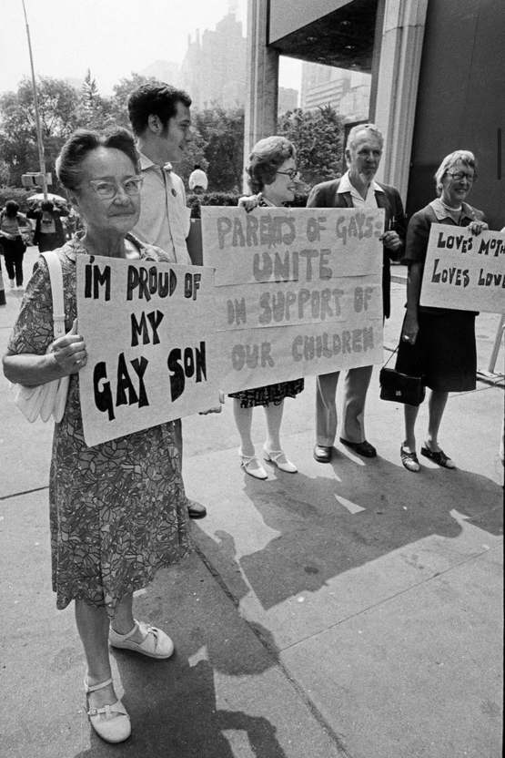 Gay pride 1973. Parents of gay people unite! Happy pride everyone!