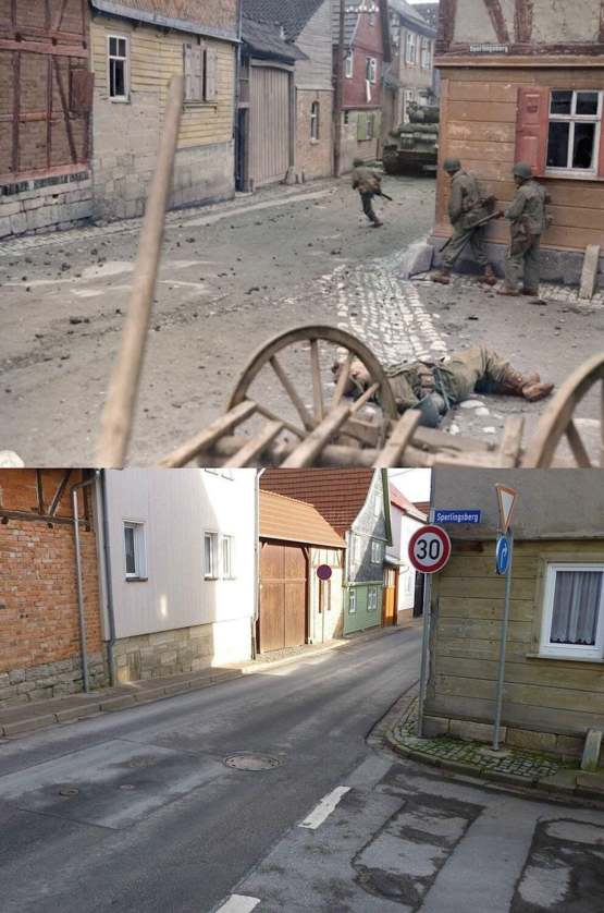 The same street, 71 years ago.
