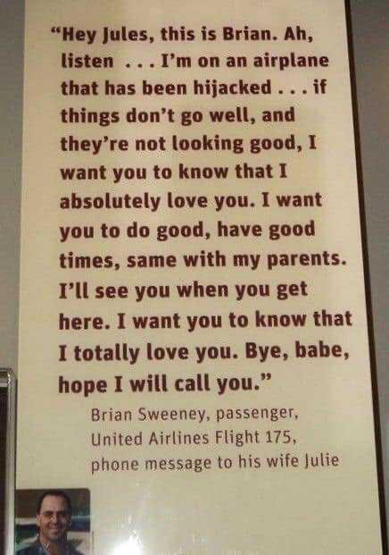 A chilling phone message from one of the victims of 9/11.