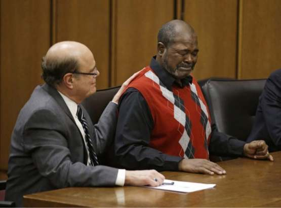 Picture of an man that was imprisoned for 40 years after being told by the judge he was innocent.