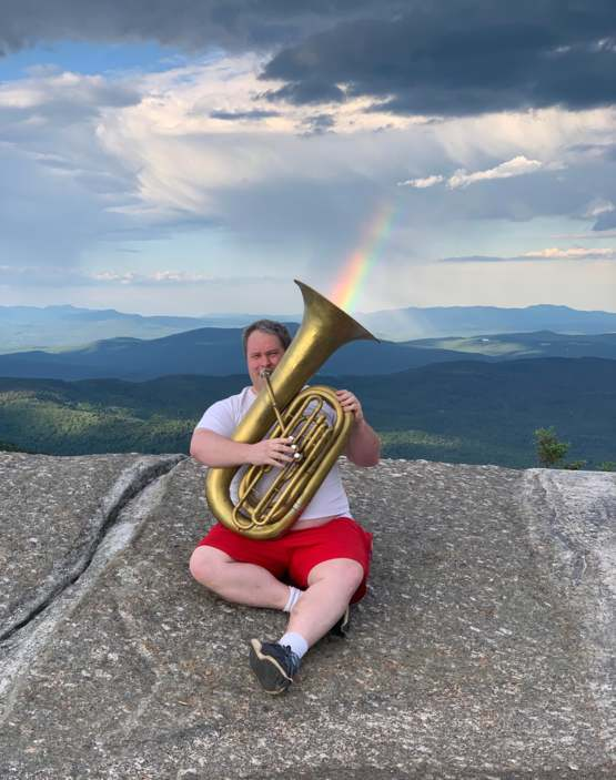 A tubaist I met on the summit of Mount Cardigan in New Hampshire