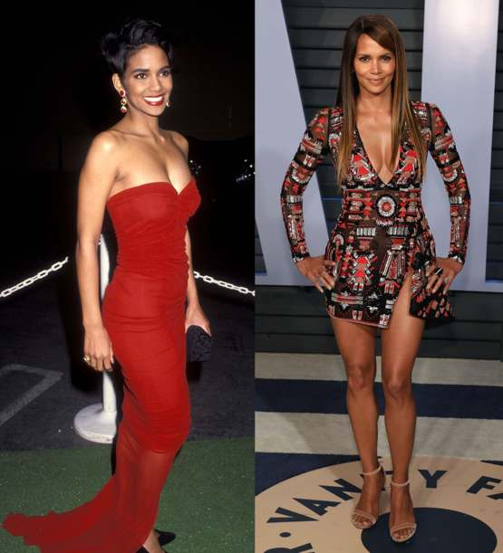 Halle Berry at 25 and 51.