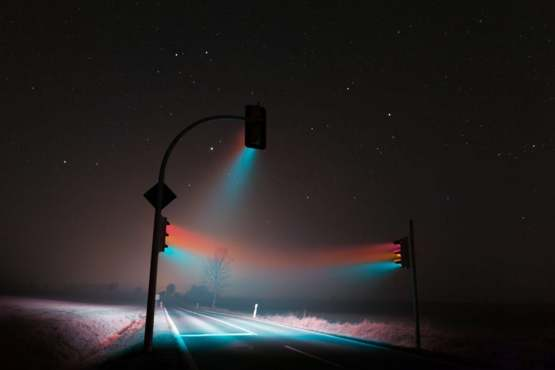 Long Exposure Traffic Lights