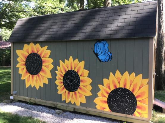 My daughter finished this side of my shed.