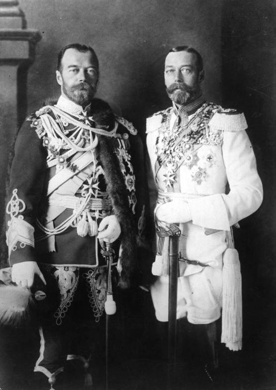 First Cousins Tsar Nicholas II of Russia and King George V of England in 1913