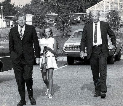 VA Gov. Linwood Holton voluntarily entering his daughter into a mostly African American school, 1970