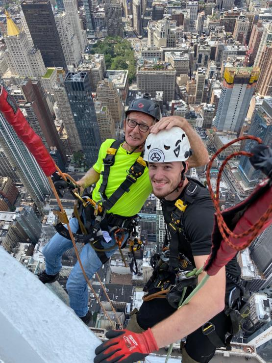 My friends 83 year old dad, who's been in & out of hospital all year, just climbed the Empire State