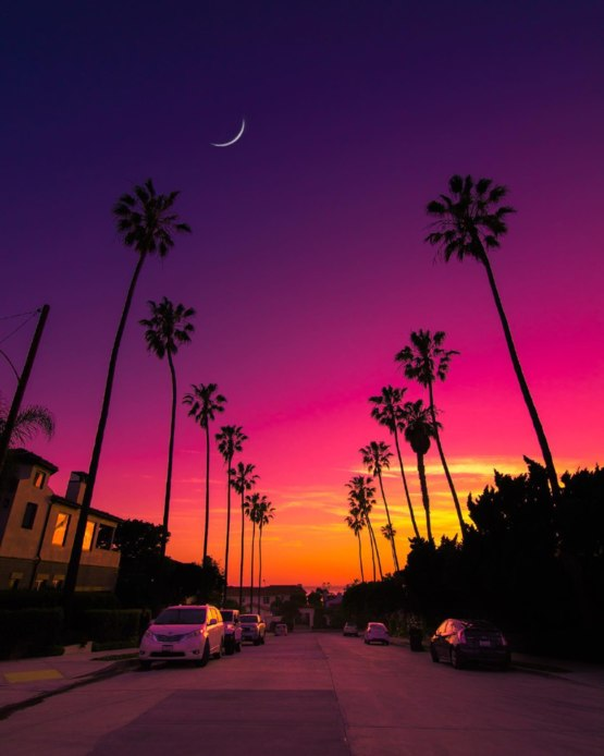 Sunset in San Diego, California:-