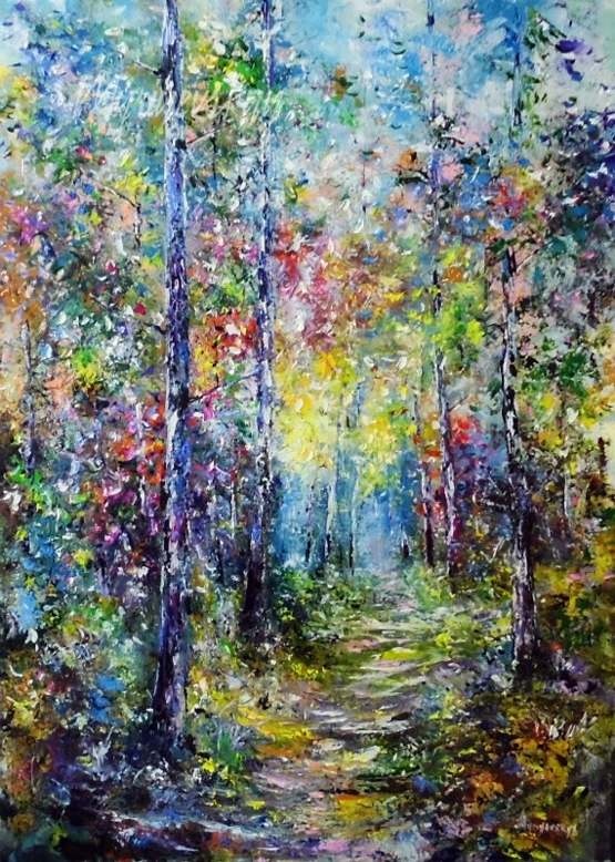 Just finished one of my oil painting forests I want to share with all of you