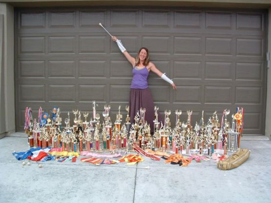 When you're nearly 40 and it's time to say goodbye to your childhood awards, you take one last pic.