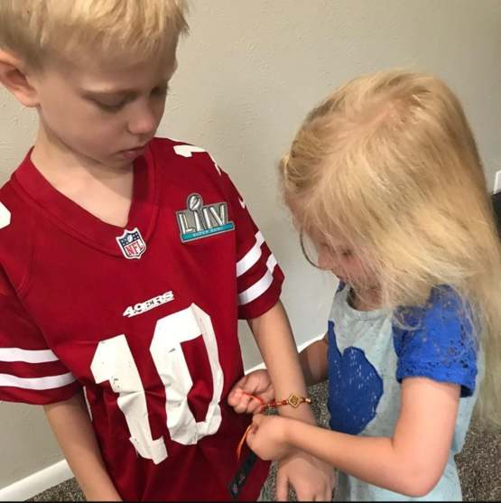 After risking his life to protect her, Bridger Walker gets a Rakhi from little sister.
