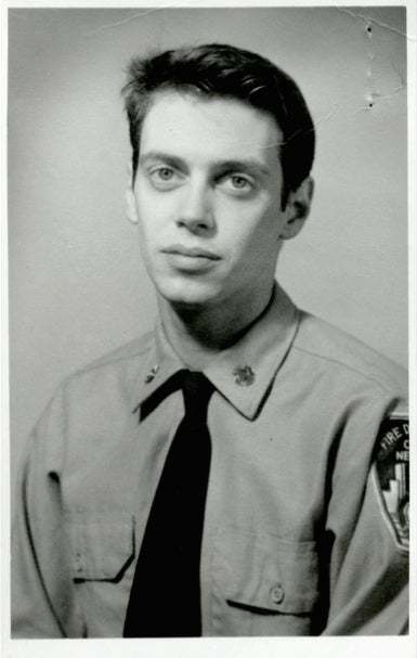Steve Buscemi during his days as a New York firefighter in 1976