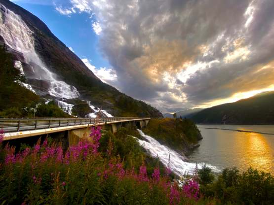 The beautiful roads of norway