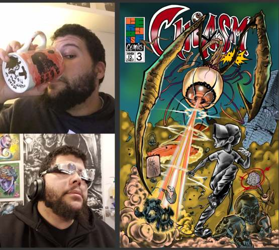 A brain tumour left me legally blind, but now I'm proud to say I'm OFFICIALLY a comic book artist!!!