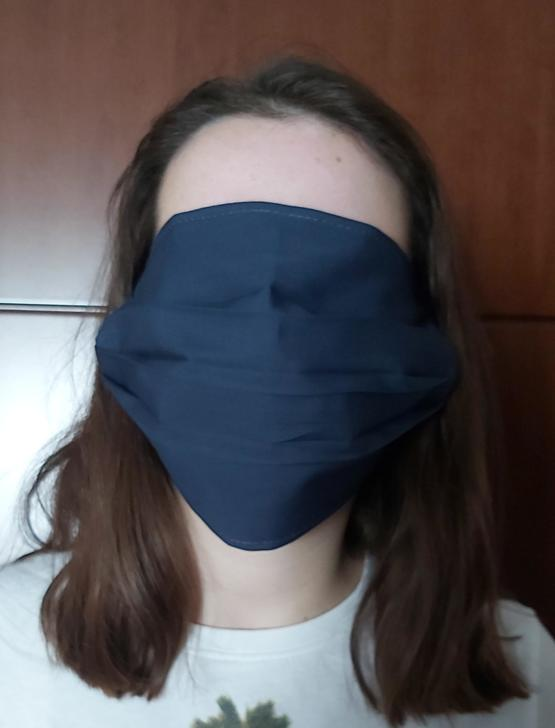First day of school today in Greece. These are the masks that the government handed out to students.