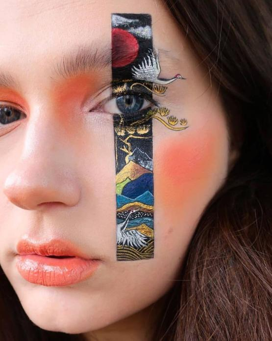 Tattoo Inspired Make-Up Art