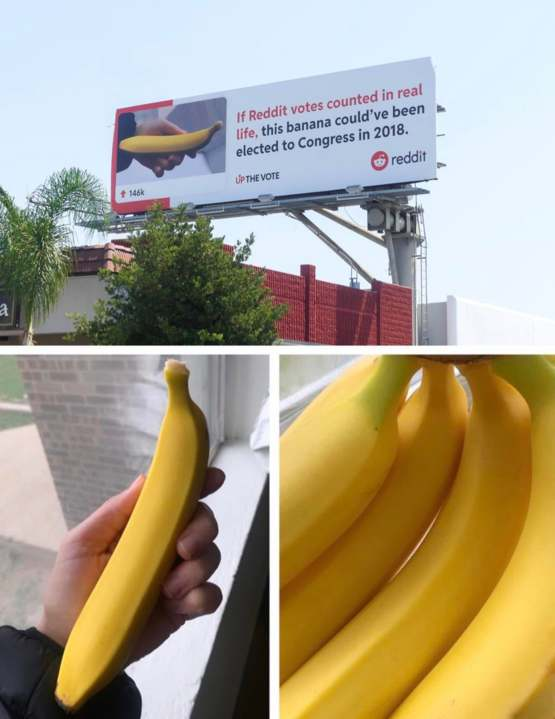 Posted a photo of my perfect bananas here a few months ago, now it's on a billboard in LA