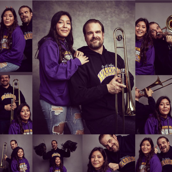 She asked David Harbour to join her yearbook photoshoot. He did it for 20k retweets.