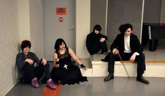 This group of people cosplayed as the Goth group from South Park