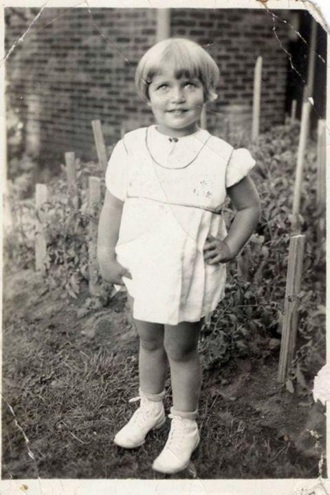 Justice Ruth Bader Ginsburg at the age of 2 in 1933