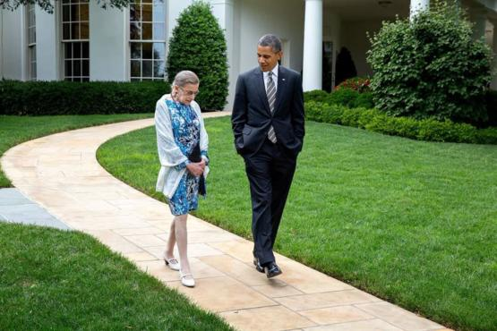 Obama and Ruth Bader on a stroll