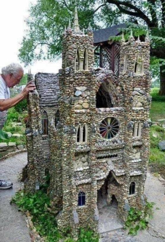 A Cathedral built out of pebbles. The original Lego set.